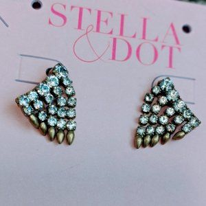 Stella & Dot NWT Renegade Crawler Chain Earrings